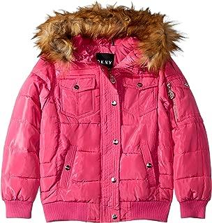 DKNY Girls' Logo Bubble Jacket