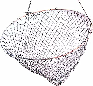 "Frabill Bridge/Pier Net | 36"" Diameter Fishing Net Pre-Rigged with 50 Feet of Rope, Black (1002)"