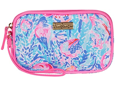 Lilly Pulitzer Gillie Wristlet (Multi Treasure Trove Accessories Small) Clutch Handbags