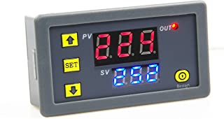 KNACRO 1500W DC 12V Relay Switch, Digital Time Delay Relay Board with Dual-Color (Red+Blue) LED Display, On-Off Delay Time...