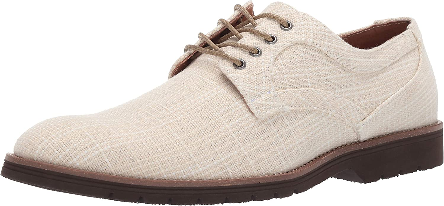 STACY ADAMS Men's Eli Textured Canvas Lace-up Oxford