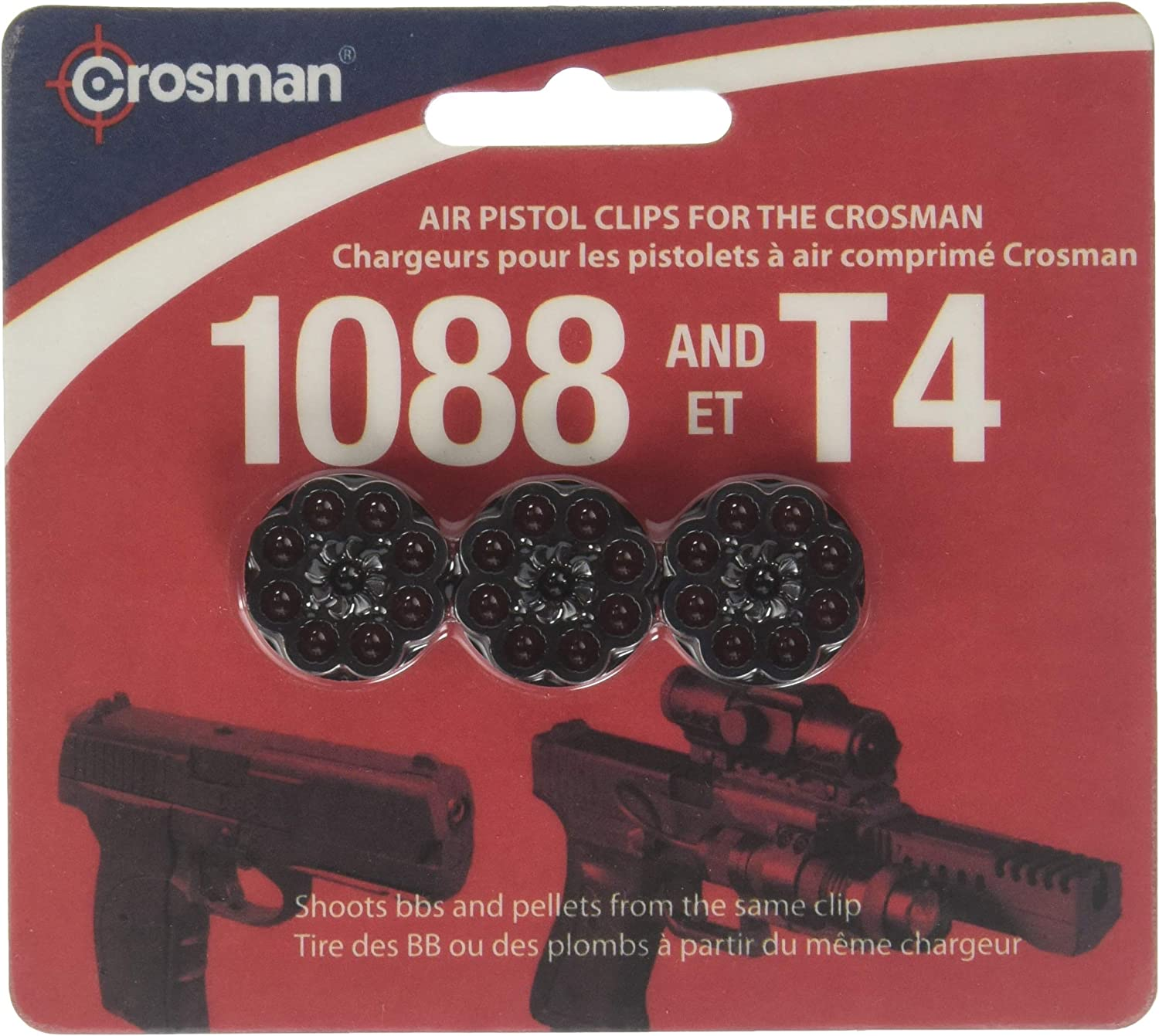 Amazon Com Crosman 8 Shot Rotary Clips Fits T4 1088 Pistols 3 Pack Airsoft Magazines Sports Outdoors