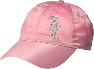 U.S. POLO ASSN. Women's Satin Rhinestone Adjustable Baseball Cap