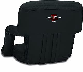 NCAA Texas Tech Red Raiders Ventura Portable Reclining Seat, Black