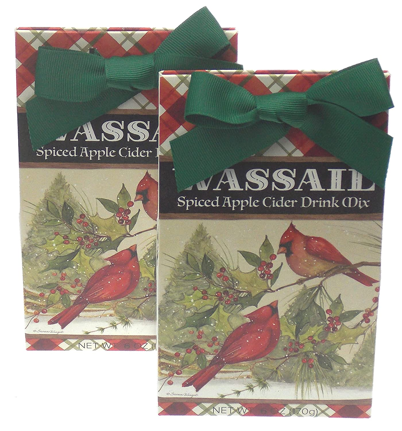 Spiced Apple Cider Wassail Gift Set Bundle - Holiday Cardinals Scene Plus a Gift Card