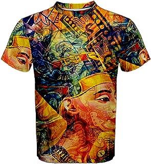 Ancient Egypt Pharaoh Code Trippy Hippie Psychedelic Full 3D Sublimation Men T-Shirt Full 3D Custom Print T Shirt Tees #003