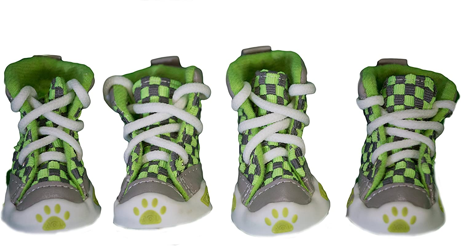 colorful Cotton Dog shoes (4, Green)