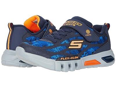 SKECHERS KIDS Sport Lighted Flex-Glow 400017L (Little Kid/Big Kid) (Navy/Orange) Boy