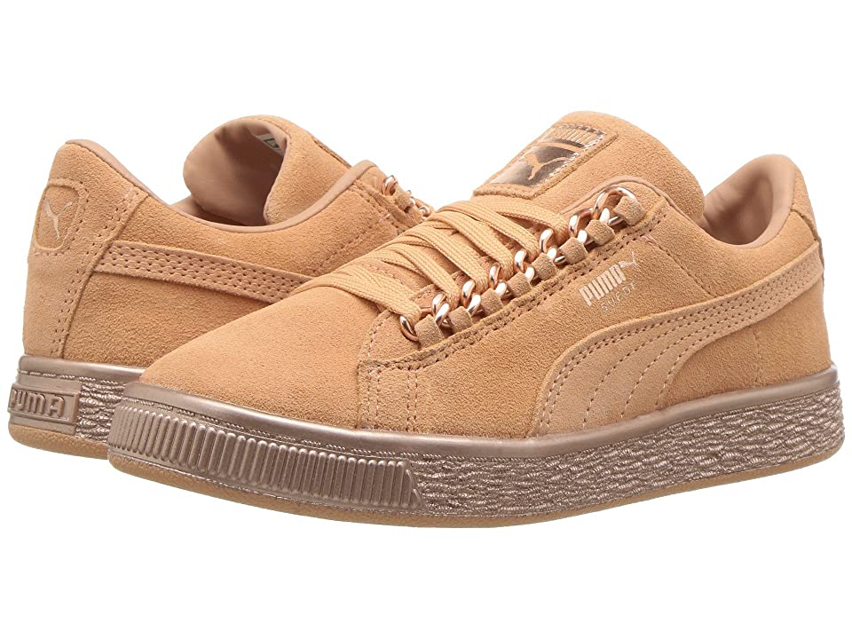 Puma Kids Suede Classic x Chain (Little Kid/Big Kid) (Dusty Coral/Rose Gold) Girl