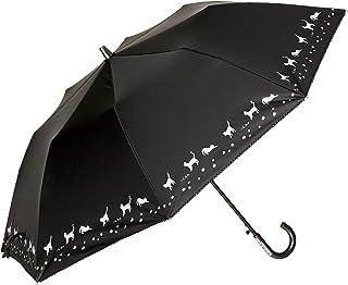 [ムーンバット] COOL UV(クールUV) 婦人 晴雨兼用 遮光?紫外線遮蔽率99% 遮熱効果 楽折傘 コンパクト 大寸ジャンプ傘 ネコ柄 猫