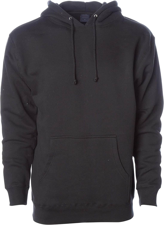 Global Blank Mens Big Tall Heavyweight Hoodie Pullover Fleece Hooded Sweatshirt