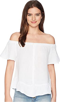 Michael Stars Double Gauze Off-The-Shoulder Ruffle Top