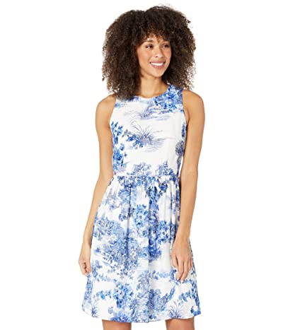 Adrianna Papell Toile Print Chiffon Jacquard Fit-and-Flare Women