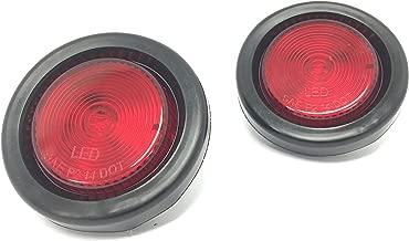 MaxxHaul 80653 LED Round Side Marker Light Red with Grommet Trailer Truck RV-2 Pack