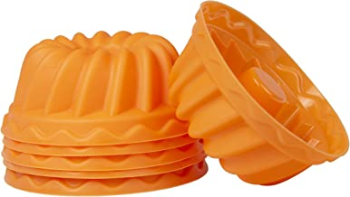 Oishii Mini Bundt Cake Molds Silicone Non-Stick Bakeware Set for Cupcakes (6 Pieces)