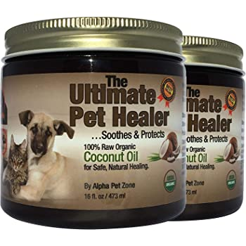 Amazon Com Alpha Pet Zone Coconut Oil For Dogs Treatment For Itchy Skin Dry Elbows Paws And Nose Pack Of 2 Pet Supplies