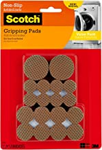Scotch Gripping Pads Value Pack, Round, Brown, Various Sizes, 36 Pads/Pack (SP941-NA)