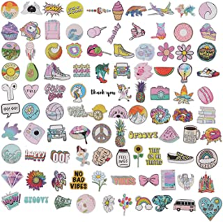 100 Pcs Waterproof Stickers Girls Laptop Luggages Cute Stickers Cartoon Stickers Vinyl Car Skateboard Water Bottle Sticker...
