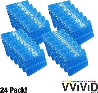 VViViD Blue Handheld Vinyl Wrap Applicator Squeegee (24 Pack)
