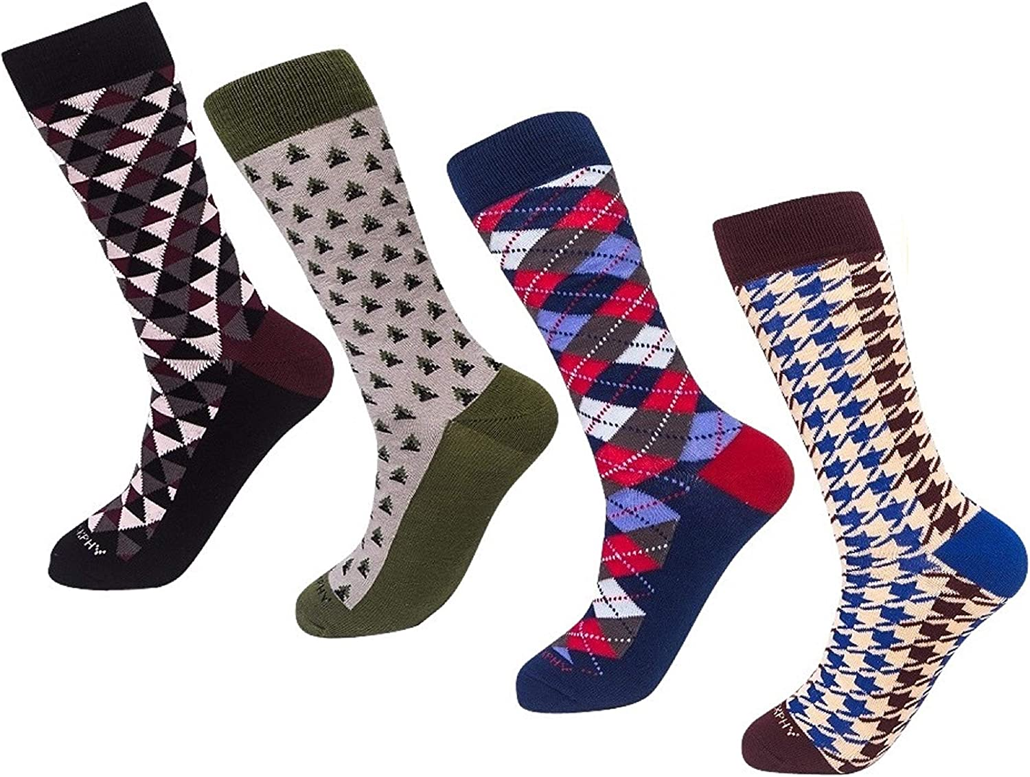 Bargain 4 Pack Cool Socks Colorful Large special price !! PHILOSOCKPHY's - Crazy