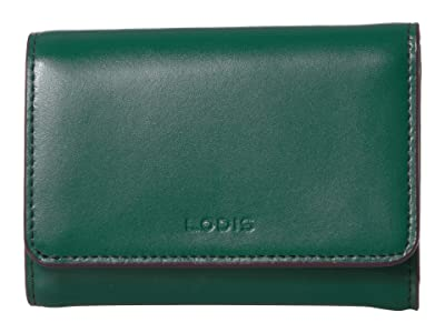 Lodis Accessories Audrey RFID Mallory French Purse (Ivy/Deep Plum) Wallet Handbags
