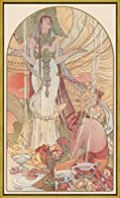 Framed Alphonse Mucha Giclee Canvas Print Paintings Poster Reproduction (Incantation)