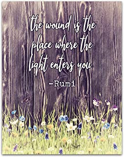 Rumi Quote Dictionary page art print gift literary book Author islam