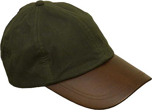 Walker & Hawkes - Uni-Sex Wax Baseball Cap Waxed Cotton Leather Peak - One-Size