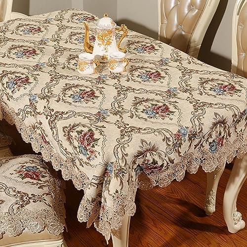 European-Style Tischdecken Tuch Luxus-Tischdecke Tischw he Spitzen Sie Tischdecke  Handtuch Abdeckung Tuch-B 150x15cm(59x59inch)