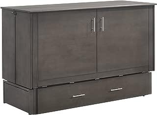 Night & Day Furniture MUR-SAGB STW and MND-GMF-TRI-QEN Sagebrush Murphy Cabinet Bed with Mattress, Queen, Stonewash