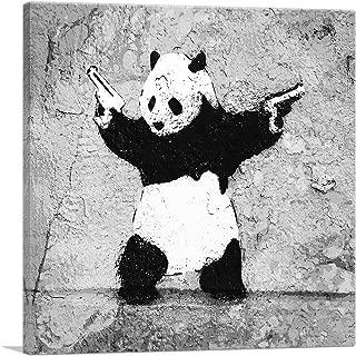 ARTCANVAS Panda with Guns Canvas Art Print by Banksy - 18