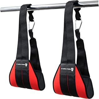 Gymreapers Hanging Ab Straps for Core Strength and Abdominal Training - Padded Adjustable Arm Supports for Bodyweight Exer...