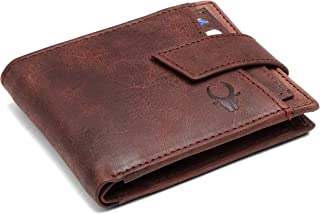 WildHorn® RFID Protected Genuine High Quality Leather Wallet (Brown Crackle)
