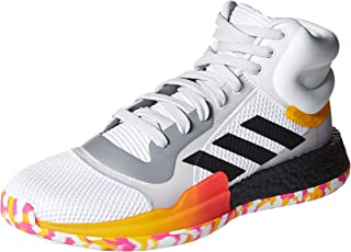 adidas Men's Marquee Boost Low Basketball Shoe, White/Black/Active Gold, 9 M US