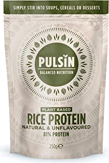 Pulsin' Protein Concentrate, Rice, 0.58 Pound