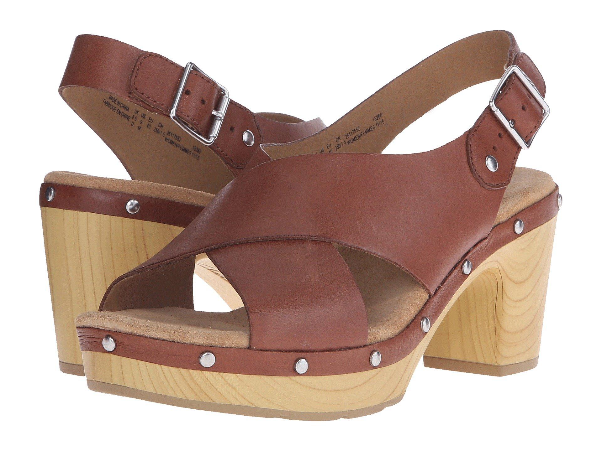CLARKS Ledella Club, Nutmeg Leather
