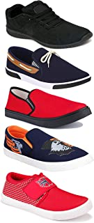 WORLD WEAR FOOTWEAR Sports Running Shoes/Casual/Sneakers/Loafers Shoes for Men Multicolor (Combo-(5)-1219-1221-1140-417-472)