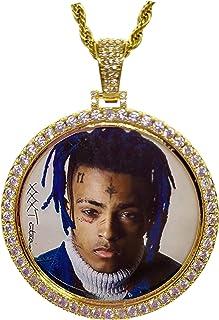 Moca Jewelry Hip Hop Rapper Exquisite Xxxtentacion R.I.P Commemorative Iced out Bling Ciondolo Catena Brillante Medaglione...
