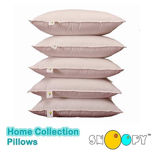 "Snoopy Fibre Filled 5 Piece Pillow Set - 16"" x 24"", Antique White"