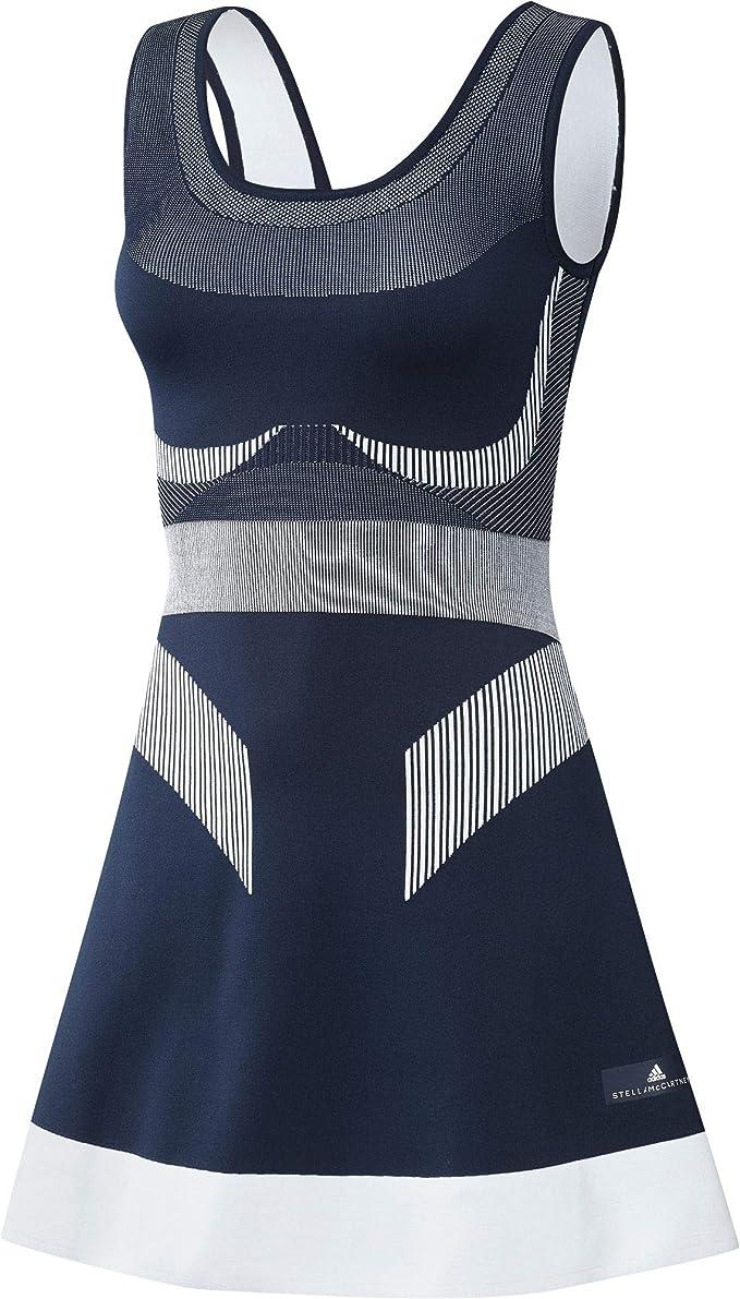 Adidas Damen Stella Mccartney Court Clubhouse Kleid Dunkelblau Hellgrau M Oberbekleidung M Amazon De Sport Freizeit