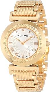 Versace - P5Q80D001 S080 – Reloj de Pulsera de Mujer, Correa de Acero Inoxidable Color Dorado