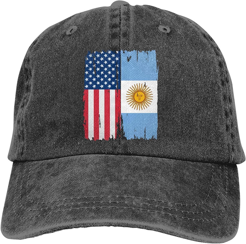 BGWORZD American Argentina Flag Sports Denim Cap Adjustable Snapback Unisex Plain Baseball Cowboy Hat