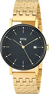 Vestal 'Sophisticate 36 Metal' Swiss Quartz Stainless Steel Dress Watch, Color Gold-Toned (Model: SP36M13.3GDM)