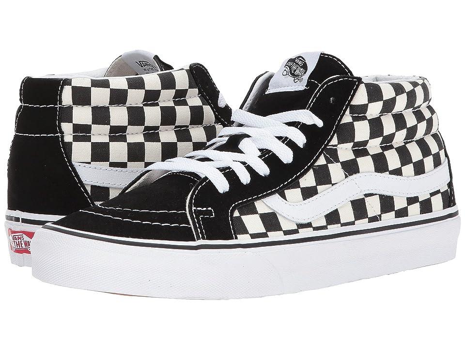Vans SK8-Mid Reissue (Checkerboard/True White) Skate Shoes