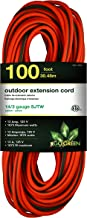 GoGreen Power GG-13800 - 14/3 100' SJTW Outdoor Extension Cord - Lighted End