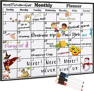 $21 » GERGELLA Magnetic Calendar for Refrigerator, Dry Erase Magnetic Fridge Calendar, White Board Planners – Monthly Organizer ...