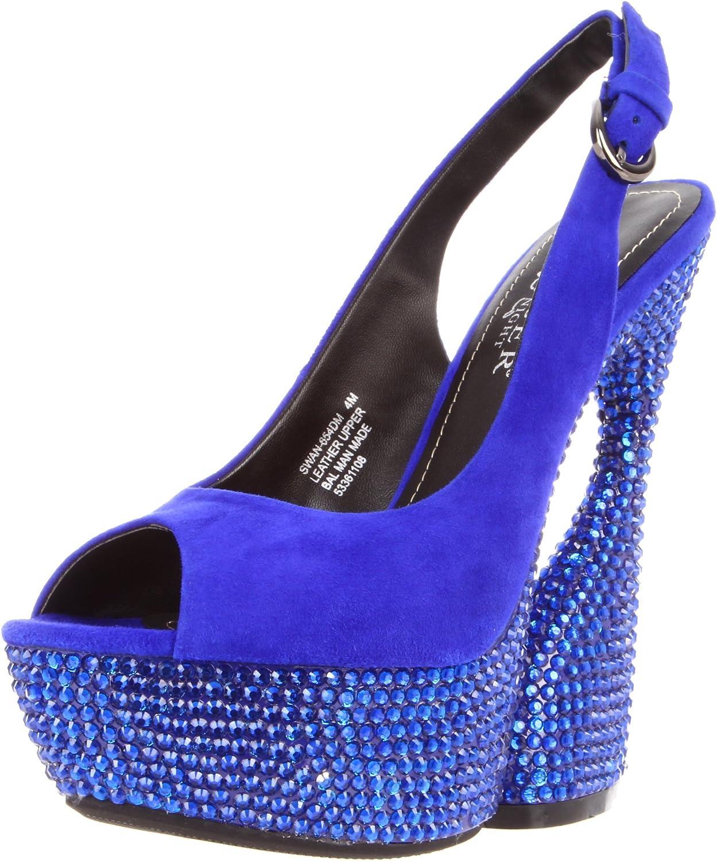 Pleaser Women's Swan-654DM RYBLS Platform Sandal