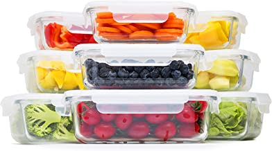 Coyacool Glass Food Storage Containers With Lids- Glass Meal Prep Containers with BPA-Free Lids 18 Pieces, 3 Different Siz...