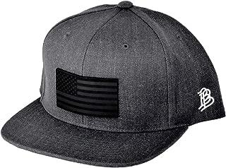 SM//MD//Black Branded Bills /'Mississippi Native Leather Patch Hat Flex Fit