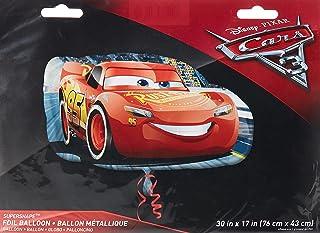 Anagram Amscan 3537001 Cars Super/Shape Lightning McQueen Balloon, Multi-Colour, One Size, 10022931